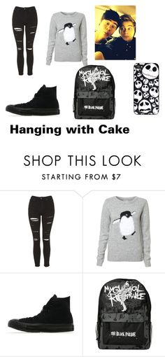 """Hanging With #Cake"" by cassie5sos on Polyvore featuring Topshop, Converse, women's clothing, women's fashion, women, female, woman, misses and juniors"