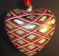 Waterford Holiday Heirlooms Plaid Heart NEW In Box