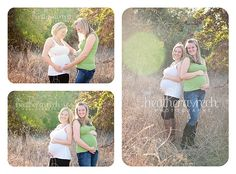 Need to do this with Shannon and Caroline. Now if I could just get Kirt to jump on the bandwagon! Sister Photography, Maternity Photography Poses, Maternity Poses, Newborn Poses, Pregnant Best Friends, Pregnant Sisters, Pregnant Couple, Sister Maternity Pictures, Sister Pictures