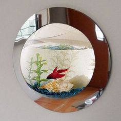 Found it at Wayfair - 1 Gallon Reflection Fish Bubble Deluxe Mirrored Wall Mounted Aquarium Tank