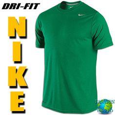 Nike 698255 340 LEGEND DRI-FIT Poly Men's Training T-Shirt Team Green SZ MEDIUM #Nike #BasicTee