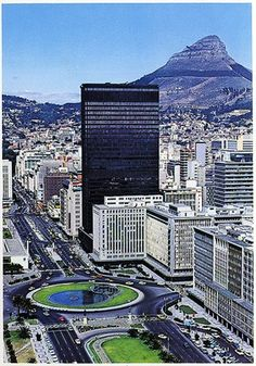 Cape Town South Africa. A look at signal hill and the city.