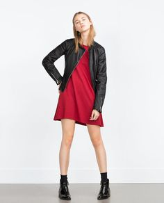 Image 1 of LEATHER JACKET from Zara