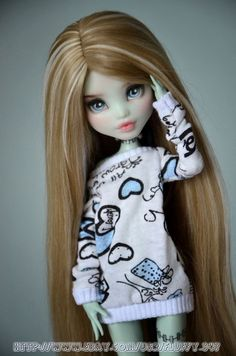 Monster High Doll - OOAK repaint Frankie Stein by AnnaShrem