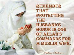 Protecting your spouse's honor.....