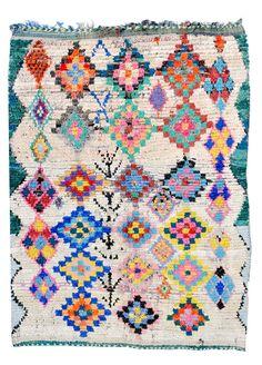 Boucherouite Rug, Painted Diamonds