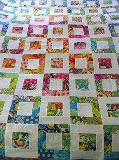 First quilt top with Amy Butler fabric. | Flickr - Photo Sharing!