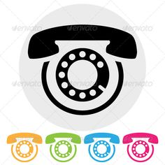 Classic Phone Symbol  #GraphicRiver         Classic phone symbol isolated on white Zip file included EPS8 (editable) and JPG (high resolution)     Created: 18May13 GraphicsFilesIncluded: JPGImage #VectorEPS Layered: Yes MinimumAdobeCSVersion: CS Tags: black #blue #call #communication #connection #contact #customerservice #designelement #dial #green #icon #isolated #old #orange #phone #purple #receiver #retro #sign #support #symbol #telephone
