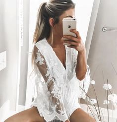 Love lacy white with tan skin  in the summer lace and white are all I wear when my skin gets darker.