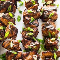 To make the most of this supertender—but very mild—cut, we turn it into kebabs. Meet: Grilled Pork Kebabs with Hoisin and Five-Spice. Grilling Recipes, Pork Recipes, Asian Recipes, Cooking Recipes, Ethnic Recipes, Cooking Videos, Skewer Recipes, Chinese Recipes, Entree Recipes