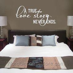Romantic | Love Wall Decals | Pinterest | Romantic master bedroom ...