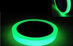 ARTGEAR Glow in the Dark Tape, Vert Lumineux Ruban Adhésif Autocollant, Ruban Phosphorescent, Fluorescente Nuit Autocollant, Amovible,…