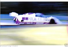 SILKCUT-JAGUAR-XJR6-XJR-6-AT-WARP-SPEED-PHOTOGRAPH-1986-BRANDS-HATCH-1000KM-FOTO