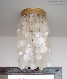 DIY Capiz light fixture