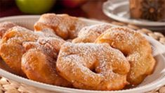 When apple season rolls around we like to celebrate by making Apple Fritters. These sweet and crunchy deep-fried cakes, topped off with confectioners' sugar, are sure to bring back some great Fall memories!