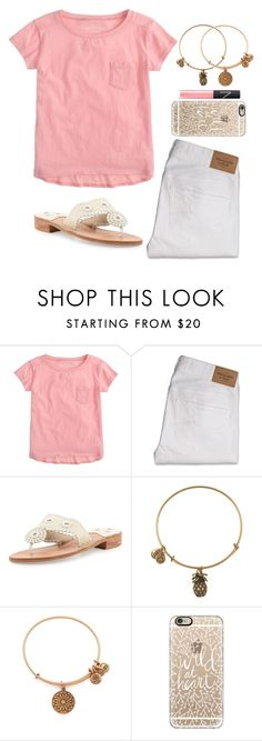 """""""Throw Kindness Around Like Confetti"""" by twaayy ❤ liked on Polyvore featuring J.Crew, Abercrombie & Fitch, Jack Rogers, Alex and Ani, Casetify and NARS Cosmetics"""