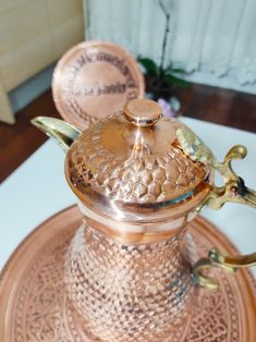 Christmas Gifts For Boyfriend, Christmas Gifts For Women, Boyfriend Gifts, Hammered Copper, Pure Copper, Turkish Coffee Set, Arabic Coffee, Turkish Tea, New Home Gifts
