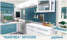 sims 4 mm cc maxis match kitchen set