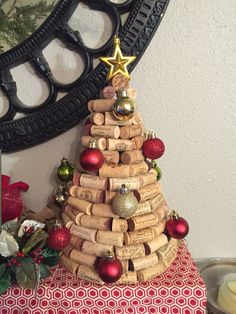 Wine Cork Christmas Tree by CraftasticMomma on Etsy