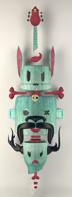 URKIN Skateboards by Julian Nuñez, via Behance
