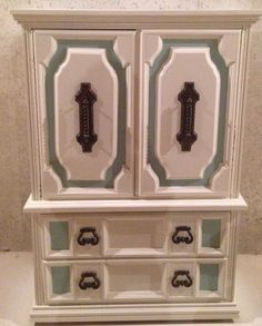 Gorgeous antique painted wardrobe, in great condition.  It is antique white, with light blue accents. Contact Jordan at 630-344-9344 if interested!