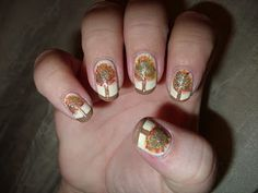 The Sparkle Queen: Thanksgiving and Fall Nail Art {Ideas and Tutorials} Autumn Trees, Autumn Fall, Autumn Leaves, Fall Nail Art, Fall Nails, Thanksgiving Nail Art, Beauty Trends, Natural Nails, Cute Nails