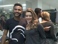 production makeup Hair Brazilian actress Bianca Castanho..