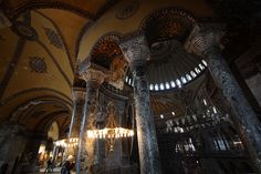 Agia Sophia - The riches of Greece trapped and destroyed in Turkey. They painted over the historic, Christian Orthodox frescoes.