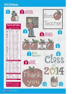 Teacher gift ideas 1 free cross stitch patterns