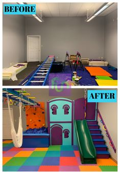 Fun Factory offers custom commercial sensory gyms to help children develop their motor skills. Our team custom designs and installs sensory gyms in the US. Kids Indoor Gym, Indoor Jungle Gym, Indoor Playroom, Kids Indoor Playground, Toddler Playroom, Kids Gym, Garage Playroom, Sensory Room Autism, Sensory Rooms