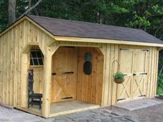 10x20 Shed with Porch, Board & Batten Siding, Shingle Roof #sheds