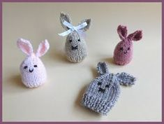 Knitted easter chick and easter bunny chocolate creme egg i am making these easter bunnies just for a bit of fun these will be cute little easter gifts some with a chocolate egg inside others with a negle Gallery