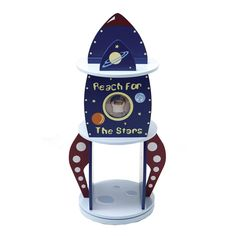 Levels of Discovery LOD20052 Rock-It Spaceship Revolving Kid's Bookcase - Home Furniture Showroom