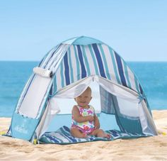 Must-Have Baby Items for a Day at the Beach Life's a beach, little one. We have picks for a day at the shore, from the best sun tent to swim diapers.Life's a beach, little one. We have picks for a day at the shore, from the best sun tent to swim diapers. Baby Beach Gear, Baby Gear, Beach Babies, Baby Tent For Beach, Toddler Beach, Beach Cabana, Beach Tent, Baby Am Strand, Sun Tent