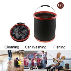 Foldable Bucket 12L, Topoint Portable Water Bucket Collapsible Bowl Storage Bowl Foldable Bucket 12L, Topoint Portable Water Bucket Collapsible Bowl Storage Bowl DESCRIPTION:   Topoint 12L Collapsible Portable Pail Folding Bucket Barrel Made of Red PP Brim + Black EVA Skidproof Sleeving + Black Waterproof 2000D Oxford, Perfect for Camping, Fishing, Picnic, Car Washing and Hiking.  The Ultimate Folding Bucket for You and Your Family.  Topoint Folding Bucket is well designed and…
