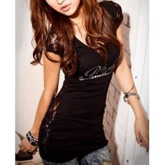 Sexy Style Floral Print Short Sleeve Scoop Neck Pullover Women's T-ShirtT-Shirts | RoseGal.com