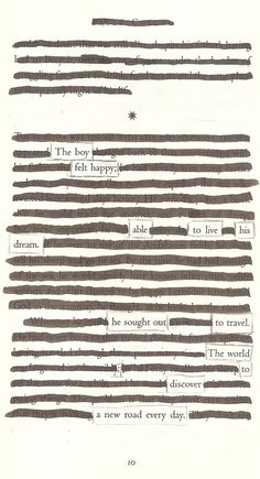 A New Road - Blackout Poem by Kevin Harrell www.blackoutpoetry.net