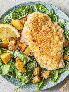 Cajun Delicacies Is A Lot More Than Just Yet Another Food Super Easy Chicken Parm Salad With Baby Spinach And A Creamy Lemon Dressing More Healthy Salad Meals On Healthy Salads, Healthy Eating, Healthy Recipes, Clean Eating, Hello Fresh Recipes, Hello Fresh Meals, Parmesan, Comida Keto, Salad Recipes