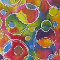 Gel glue batik  Susan Purney Mark