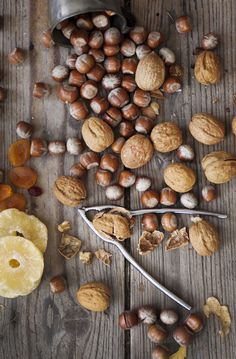 walnuts, hazelnuts + dried fruit | food photography