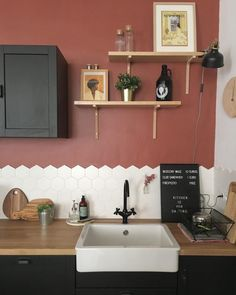 Home Interior Drawing .Home Interior Drawing Kitchen Color Trends, Kitchen Wall Colors, Kitchen Paint, Kitchen Walls, Retro Home Decor, Easy Home Decor, Cheap Home Decor, Decor Diy, Decor Ideas