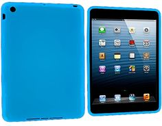 """Amazon.com: Sky Blue {Simple Matte Plain} Soft and Smooth Silicone Cute 3D Fitted Bumper Back Cover Gel Case for iPad Mini 1, 2 and 3 by Apple """"Durable and Slim Flexible Fashion Cover with Amazing Design"""": Computers & Accessories"""
