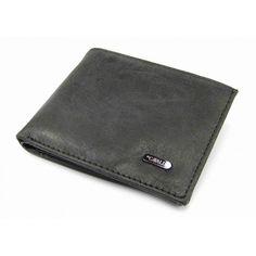 Kožená peněženka pánská šedá - peněženky AHAL Card Case, Continental Wallet, Zip Around Wallet