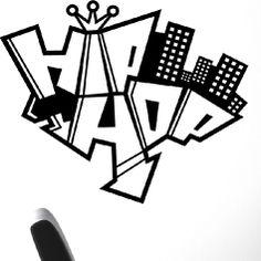 Sticker hip hop graffiti