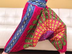 Multicolored Yoga Harem Pants  Block printed in by theBilvatree, $17.99 Yoga Harem Pants, Trending Outfits, Printed, Shopping, Vintage, Etsy, Fashion, Moda, Fashion Styles