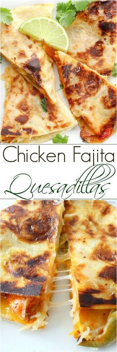 Do you love chicken fajitas? Do you love quesadillas? Combine the two and you have one amazing quesadilla you'll want to make over and over! ♠