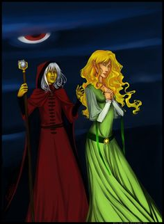 Raistlin and Laurana // Not the best artwork, but I loooove the sentiment :3 These two are so OTP it's not even funny