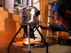 Waste motor oil heater.  Or vegetable oil.