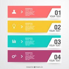 Plantilla de infografía de colores Vector Gratis