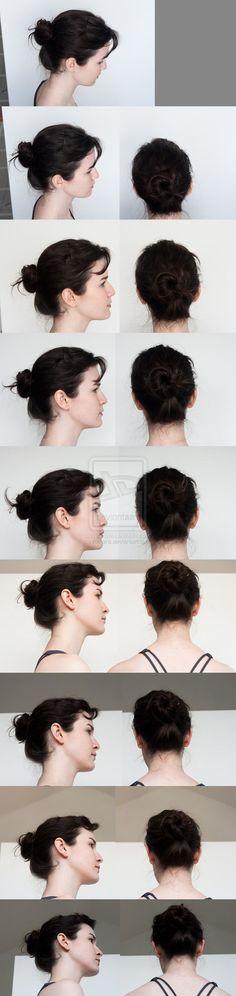 Head Turnaround - Top to Bottom Profile by =Kxhara on deviantART: